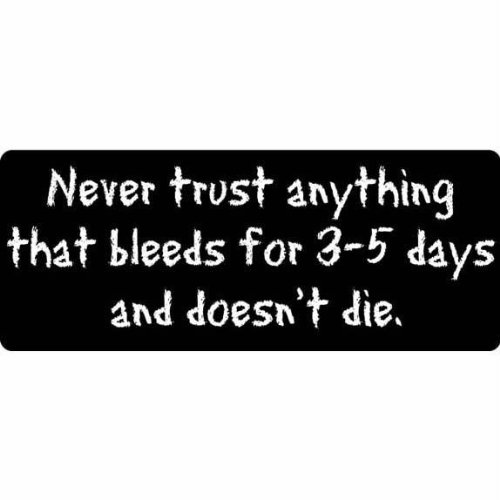 Bleeds And Doesnt Die Decal   Sticker Automotive