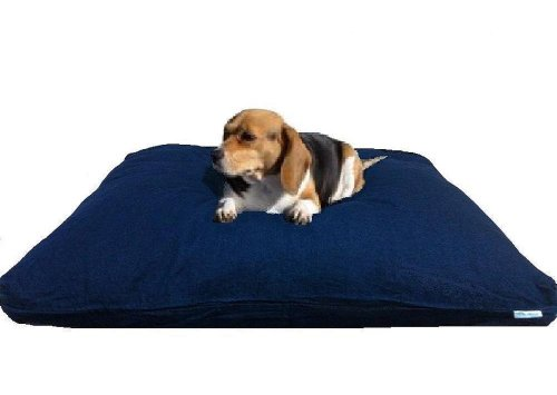 Heavy Duty Large Memory Mix Foam Waterproof Pet Dog Bed Pillow With Washable Blue Denim Cover