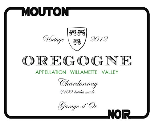 "2012 Mouton Noir ""Oregogne Blanc"" Willamette Valley Chardonnay 750 Ml"
