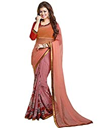 Vastram Online Shop Women's Georgette Saree (12_Multicolor)