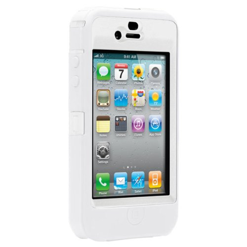 OtterBox Defender Case for iPhone 4 (White/White, Fits AT&T iPhone)