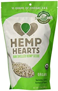Manitoba Harvest Organic Hemp Hearts Shelled Hemp Seed, 12 Ounce Bags (Pack of 2)