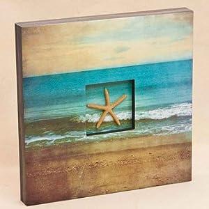 Starfish Shadow Box Wall Art Kitchen Home