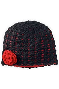 Tabask Rosette Hand Crocheted Lined Hat