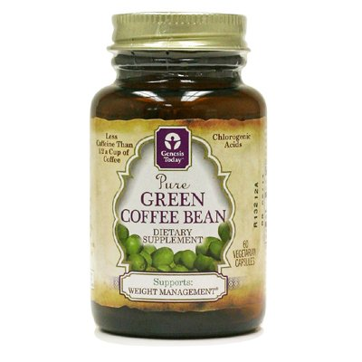 Green Coffee Bean Extract, 400mg Per Capsule, 60 Vegetarian Capsules, 100% Pure All Natural Formula, (Contains 50% Chlorogenic Acids)