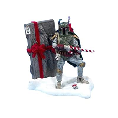 Kurt S. Adler 8-Inch Fabric Mache Star Wars Boba Fett Tablepiece Christmas Décor