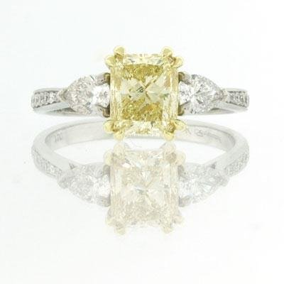 1.99ct Fancy Yellow Radiant Cut Diamond Engagement