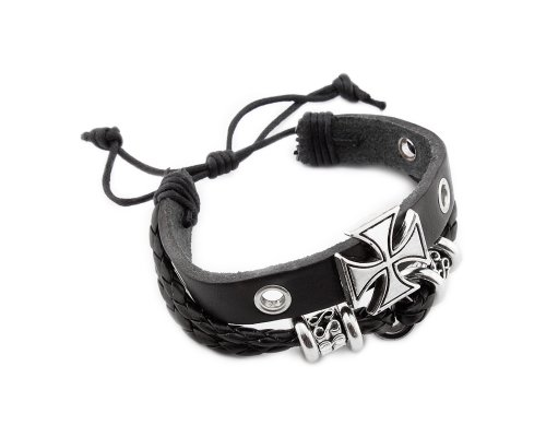 Cool Cross designs friendship bead charm leather