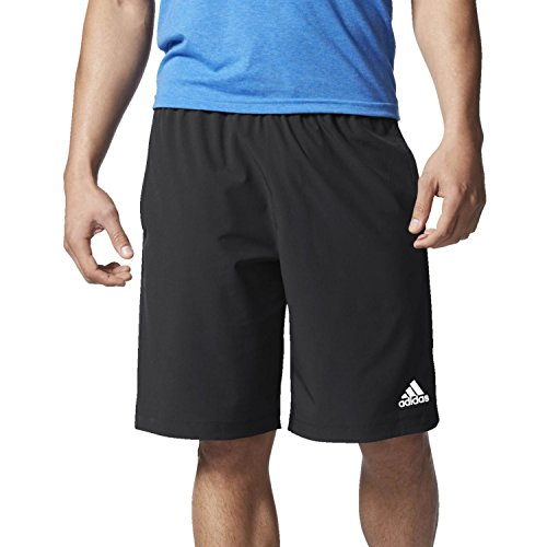 adidas Men's Axis Team Issue Woven Shorts (Black, Large)