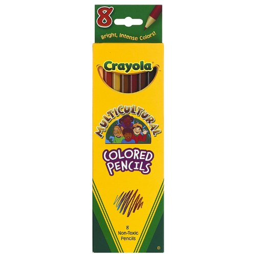Crayola Multicultural Colored Pencils, Set Of 8 Colors - 1