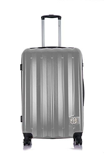 Les P'tites Bombes Set di valigie, Silver (Argento) - BD-5929