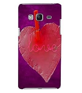 PrintVisa SAMZ3-Romantic Love Plastic Back Cover (Multicolor)