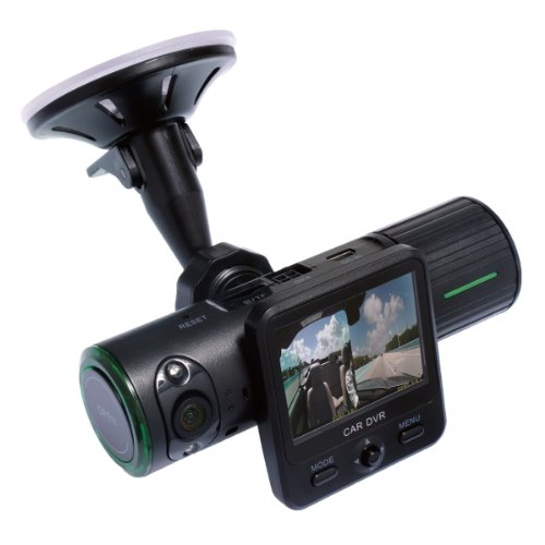 「GPS、加速度センサー内蔵、液晶モニターを搭載」GPS内蔵デュアルレンズドライブレコーダー DLDRWGP1