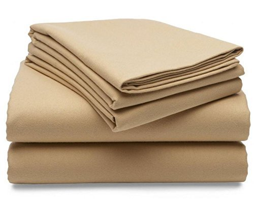 Martha Stewart Collection Solid Flannel Twin Sheet Set Bedding front-208591