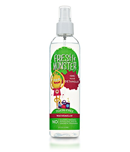 Fresh Monster Kids Hair Detangler Spray (Watermelon, 8oz) - Toxin-Free - Sulfate-Free - Paraben-Free - Natural Conditioning Spray Smoothes Tangles - Hypoallergenic - Natural Kids Detangler Spray (Great Clips Tea Tree Shampoo compare prices)