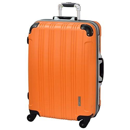 TSAロック搭載 スーツケース キャリーバッグ DL21001 マット Kingdom オレンジ S 小型 (2~4日用)