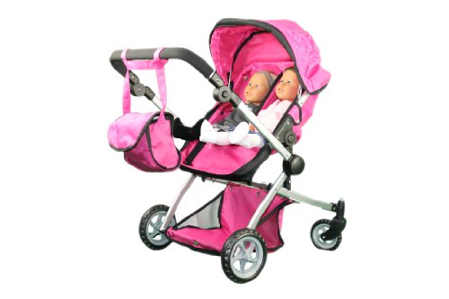 Babyboo Deluxe Twin Doll Pram/Stroller with Free Carriage (Multi Function View All Photos) - 9651A Amazon.com