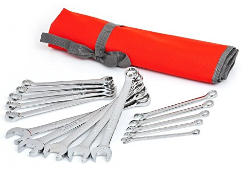 Crescent CCWS5 Metric Combination Wrench Set with Roll Pouch, 15 Piece (Long Box Sae Wrench Set compare prices)