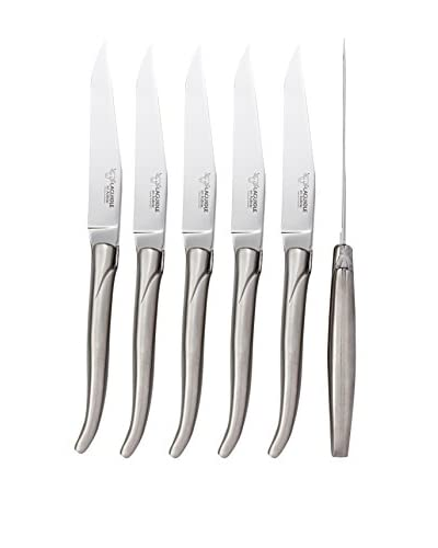 Laguiole en Aubrac Satin Finished Set of 6 Steak Knives