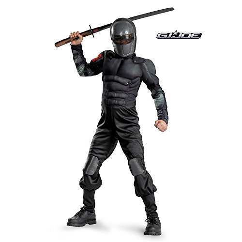 [Boys Classic Muscle G.I. Joe Snake Eyes Costume AND Accessories ( Small )] (Cobra Snake Halloween Costumes)