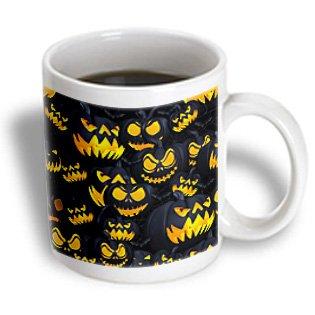 Mug_184669_2 Spiritual Awakenings-Holidays - Scary Jack O Lanterns In Bright Orange Will Get A Scream Or Two. - Mugs - 15Oz Mug