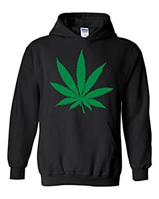 Artix Pot Leaf Plush Unisex Hoodie Sweatshirt
