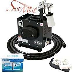 Apollo Sun-Mist Sunless Spray Tanning System with Ocean DHA Solution Sunless Tanning Variety Sampler Pack (4 Solutions - 1 Pint Total) and Accessories Set