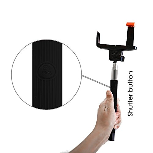 selfie stick lif self portrait extendable wireless monopod with built in bluetooth remote. Black Bedroom Furniture Sets. Home Design Ideas