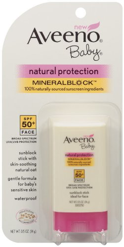 Aveeno Sun Natural Protection Baby SPF 50 Stick, 0.5 Ounce