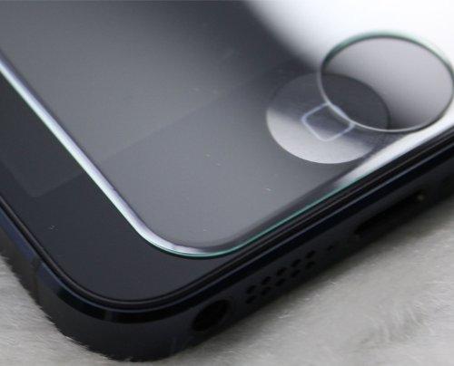 iPhone5S/5C/5用 強化ガラス GLASS-M/硬度9H Ver2 カッターでも傷つかない 日本語マニュアル付属 アルミホームボタン付属