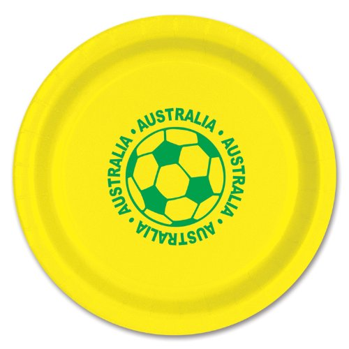 Beistle 58006-AUS 8-Pack Plates, 9-Inch, Australia