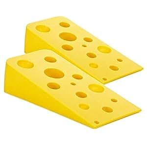 2 cheese wedge silicone doorstops novelty non scratch non skid door stop stopper - Novelty doorstop ...