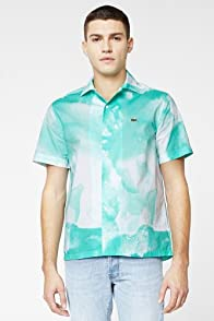 L!VE Short Sleeve Water Color Print Woven Shirt