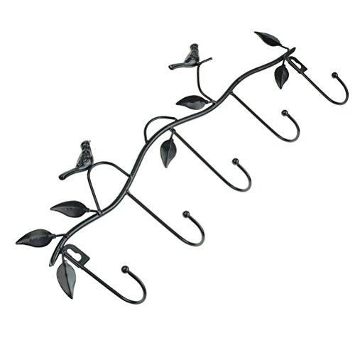 Marrywindix Black Metal 5 Hooks Wall Mount Birds Hook Hanger Rack Holder