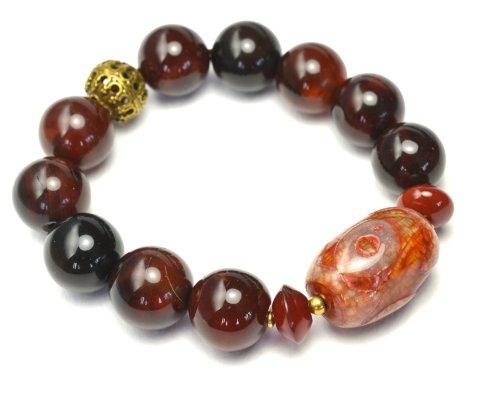 Luxury Protective Evil Eye Tibetan Dzi Beads Amulet Bracelet – Fortune Feng Shui Jewelry
