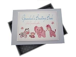 White Cotton Cards Grandad's Boasting Book - Álbum de fotos para abuelo (tamaño pequeño), color rosa