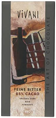 Vivani Organic Dark Chocolate with 85% Coco 100 g (Pack of 5)