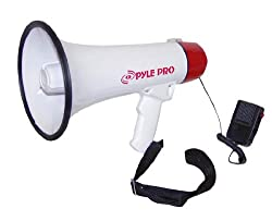 PylePro - Professional Megaphone / Bullhorn w/Siren and Handheled Mic