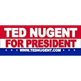 """Ted Nugent for President Sticker 9"""" X 3"""""""