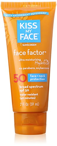 Kiss My Face Face Factor Sunscreen SPF 50 for Face and Neck, 2 Ounce