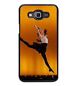 Fuson Premium 2D Back Case Cover Dancing girl With White Background Degined For Samsung Galaxy E7::Samsung Galaxy E7 E700F