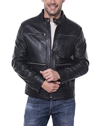 Giorgio Di Mare Cazadora Piel Negro