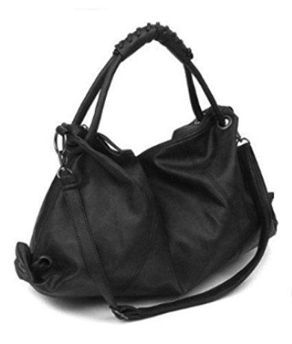 Maison De Decoration©Sac à main occasionnel d'épaule de messager d'emballage de cuir de modèle de femmes nouveau (noir)