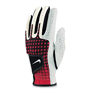 NIKE Tech Xtreme Regular White/White-Chall Red-Black Glove (Left Hand, Medium/Large)