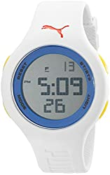 PUMA Unisex PU910801033 Loop Digital Display Quartz White Watch
