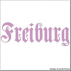 cartattoo4you AK-01584   FREIBURG - Fraktur / Altdeutsche Schrift   Autoaufkleber Aufkleber FARBE lila , in 23 weiteren Farben erhältlich , glänzend 17 x 5 cm in PREMIUM - Qualität Waschstrassenfest VERSANDKOSTENFREI
