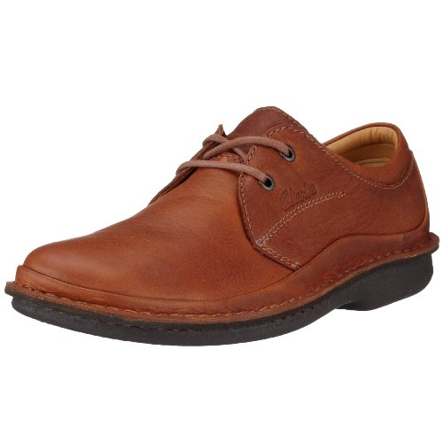 Clarks Sentry Cry Mahogany Leather 203289028095 Men's Lace-Up Shoes - Brown, 9.5 UK