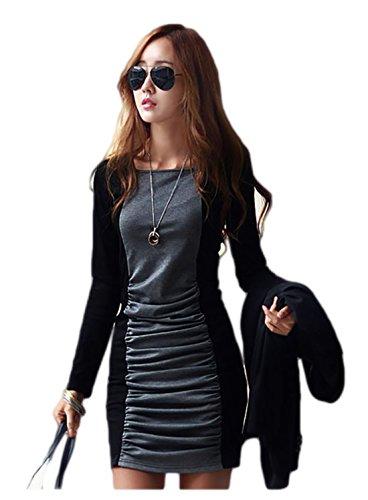 Women Long Sleeve Maxi Bandage Dress Autumn Black Bandage Dresses Plus Size Xl