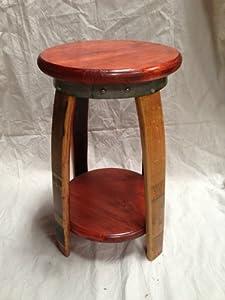 Amazon Com Wine Barrel Bar Stool Kitchen Amp Dining