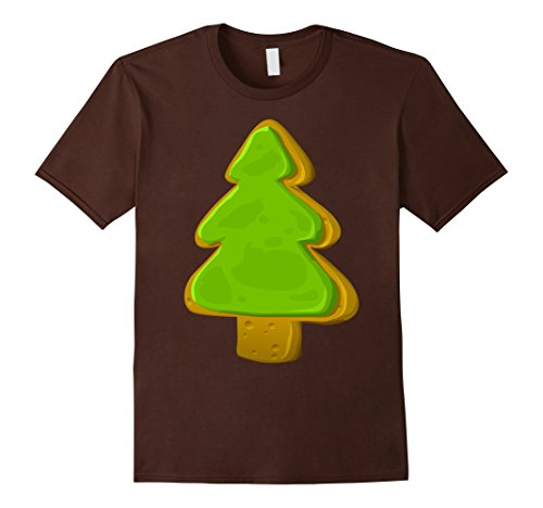 [Men's Gingerbread Christmas Tree Cookie T-Shirt 3XL Brown] (Homemade Gingerbread Costumes)